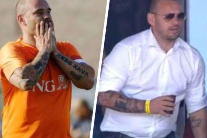 Wesley Sneijder slachtoffer van 'fatshaming' na aankondiging dat hij stopt met voetbal