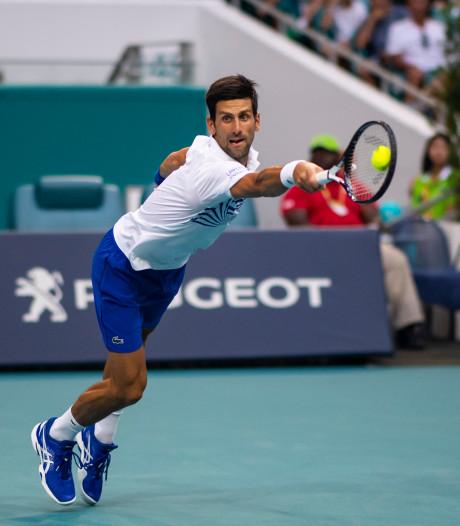 Novak Djokovic kritisch na moeizame zege in Miami