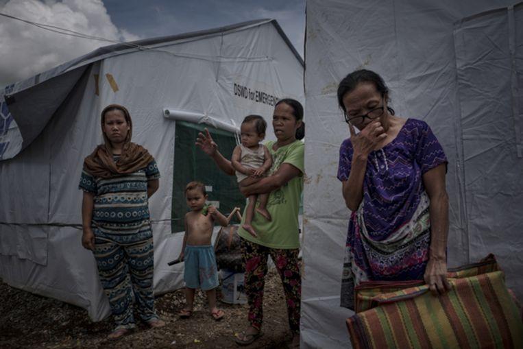 Vluchtelingenkamp Sarimanok Tent City, even buiten de stad Beeld Getty Images