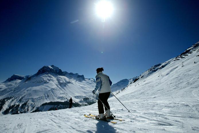 Sneeuw in skigebied Lech am Arlberg.