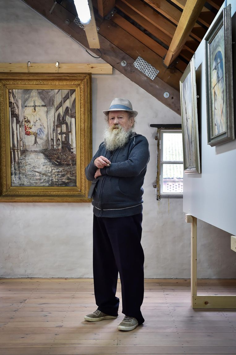 Jean Steeman, ondertussen overleden, vereeuwigde de brand in de Sint-Pauluskerk in één van zijn schilderijen. Hij vertelde er altijd in geuren en kleuren over.