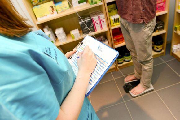 Natacha tijdens een behandeling
