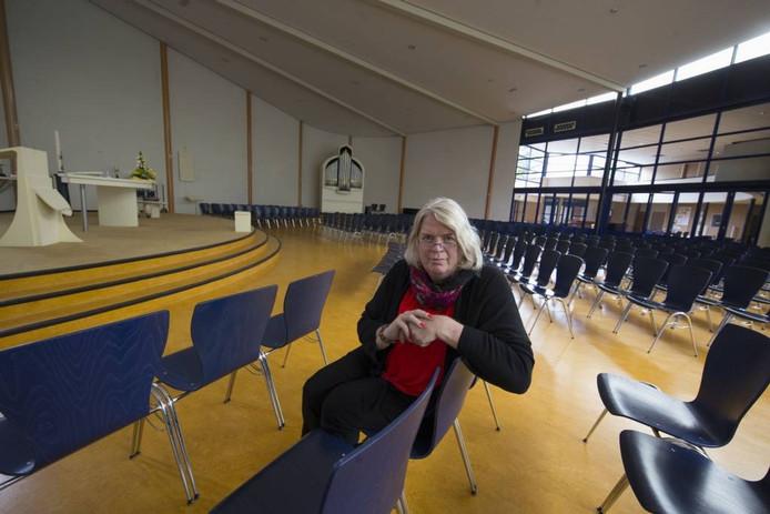 Rhianna Gralike in Ludgereskerk in Dronten. Ze moet haar bestuursfunctie neerleggen.