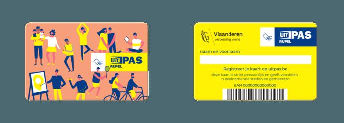De UiTPAS Rupel, vanaf 18 januari te koop.