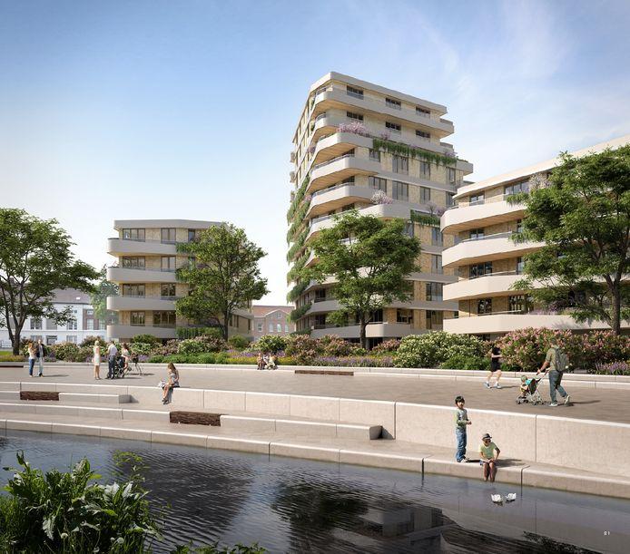 De Weef, zo gaan de appartementen in het Burgemeester Geukerspark in Helmond heten.