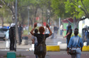 Deelnemers aan het protest tegen de regering in Willemstad. Vorige week was het erg onrustig in de stad.