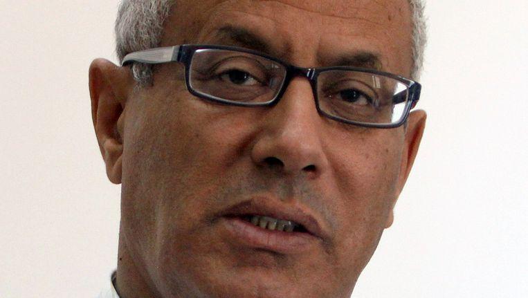 De Libische premier Zeidan is door gewapende mannen uit een hotel in Tripoli ontvoerd. Beeld afp