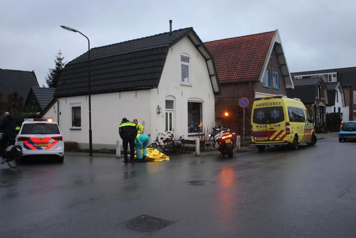 De plek van het ongeval met de fietser in Apeldoorn