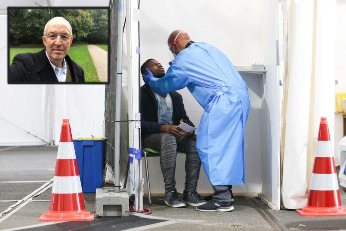 Er is onder meer gekeken naar de uitslag van de burgemeester van Rotterdam, Ahmed Aboutaleb, links boven op de foto.