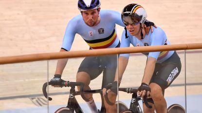 """Moreno De Pauw met jonge Van Den Bossche net naast podium in ploegkoers op Europese Spelen: """"Fabio mag trots zijn"""""""