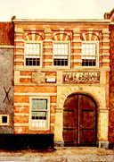 Het gasthuis aan de Visstraat waar zieken werden opgenomen en met wat geluk ook weer beter werden. De geheimzinnige ziekte in 1807 had de dood zo snel tot gevolg dat een gasthuisopname te laat kwam.