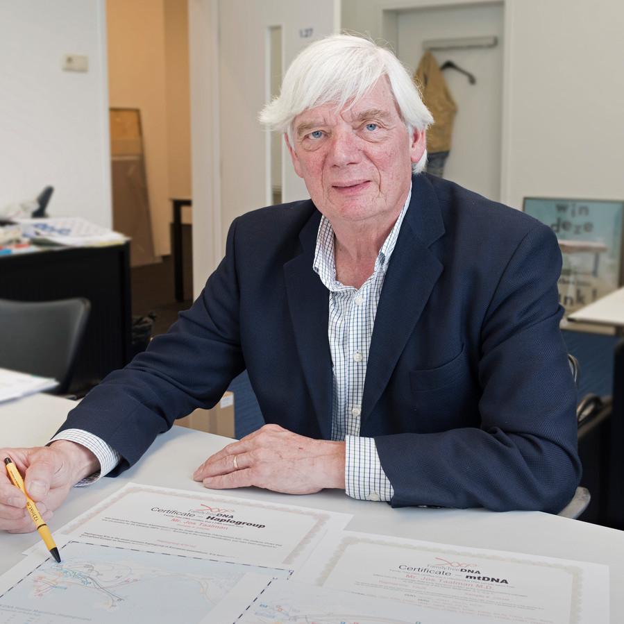 Jos Taalman laat zien hoe via DNA-onderzoek inzichtelijk is te maken waar de wortels van zijn familie liggen