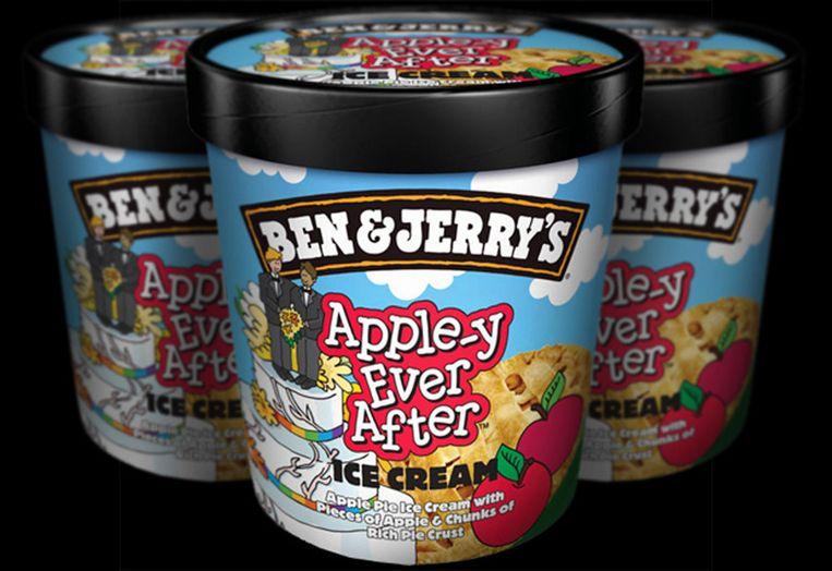 Ben & Jerry's steunt het homohuwelijk met ijs en een app. Beeld null