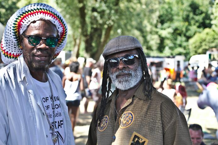 Rasta's op Rastaplas, het reggae-evenement aan de Noord Aa.