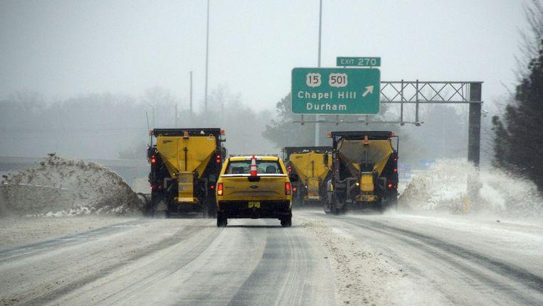 Sneeuwstorm verlamt oosten van VS. Beeld anp