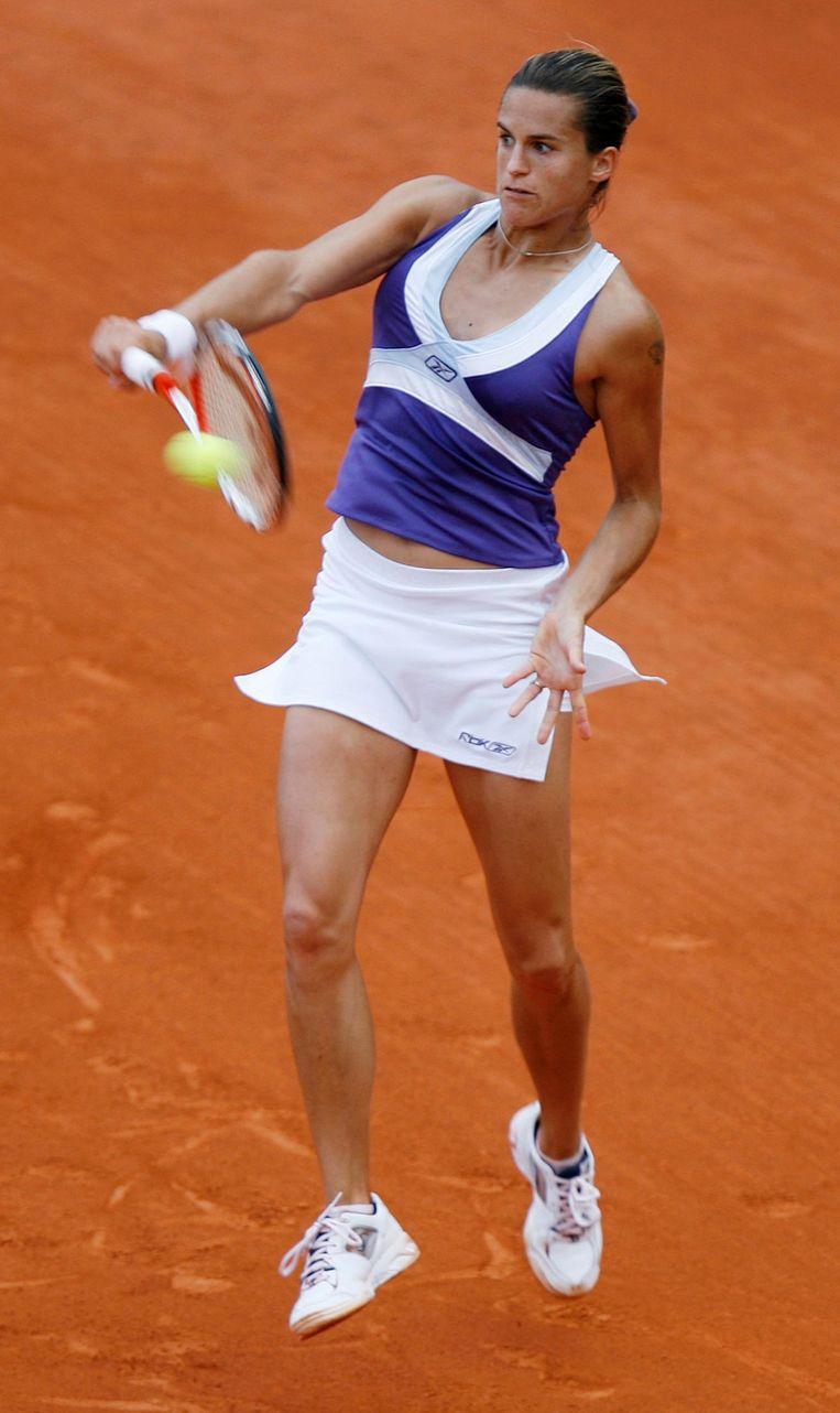 Oud-tennisser Amelie Mauresmo is ook zo'n rolmodel. Beeld reuters