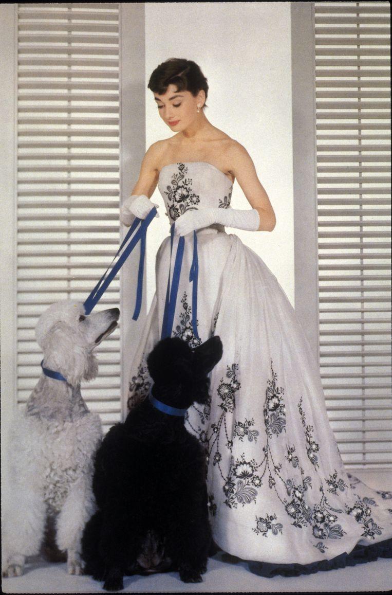 Audrey Hepburn in de film 'Sabrina'.