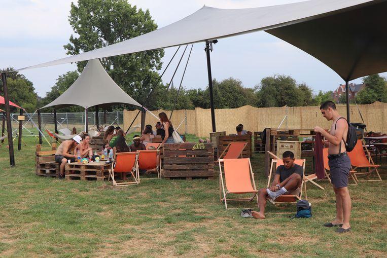 Een chillzone op de Green Camping Beeld Anthony Henri