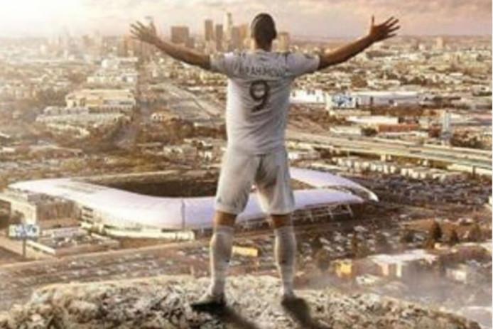 Zlatan wuift LA uit.
