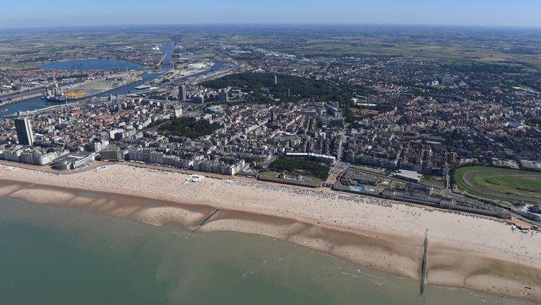 Luchtfoto van Oostende
