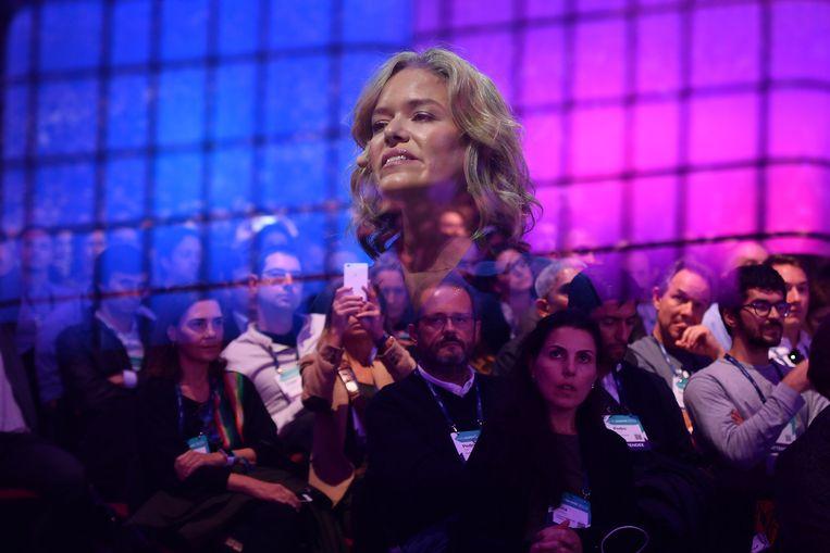 Bestuursvoorzitter van de Wikimedia Foundation Katherine Maher.  Beeld Sportsfile for Web Summit via Ge