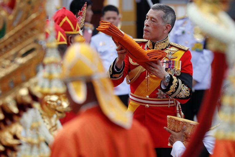 De nieuwe koning Maha Vajiralongkorn, de enige zoon van Bhumibol en diens vrouw Sirikit.