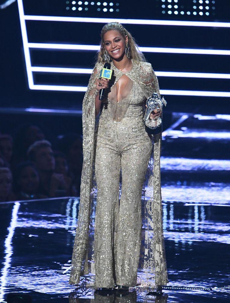 Beyoncé tijdens de uitreiking van de MTV Video Music Awards afgelopen augustus. Beeld anp