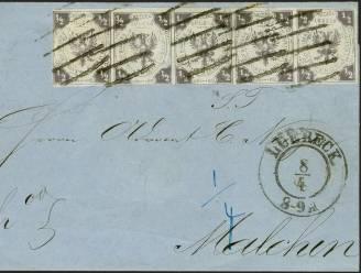 Brief met historische postzegels geveild voor 430.000 euro