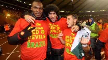 """Rode Duivels zwaaien Fellaini uit: """"Ik ben je eeuwig dankbaar omdat je mijn hachje redde"""", Hazard wilde Marouane overtuigen te blijven"""