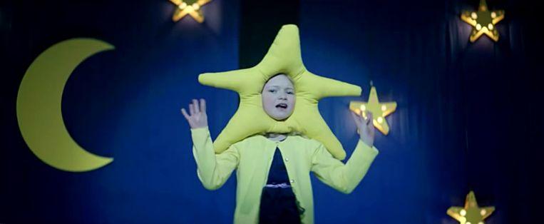 Commercial van Vodafone met 'Twinkle' zingend kind. Beeld Vodafone
