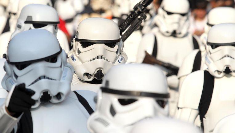 Pas op in Studio K dit weekend, het barst er van de stormtroopers. Beeld anp