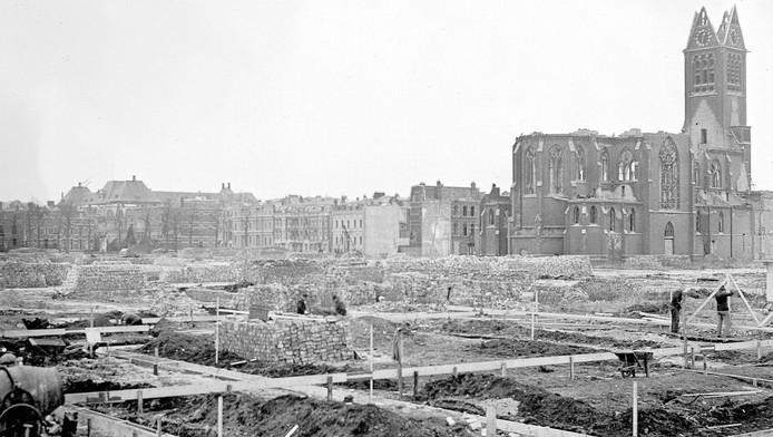 Het bombardement op het Bezuidenhout vernietigde veel huizen en kostte velen het leven.