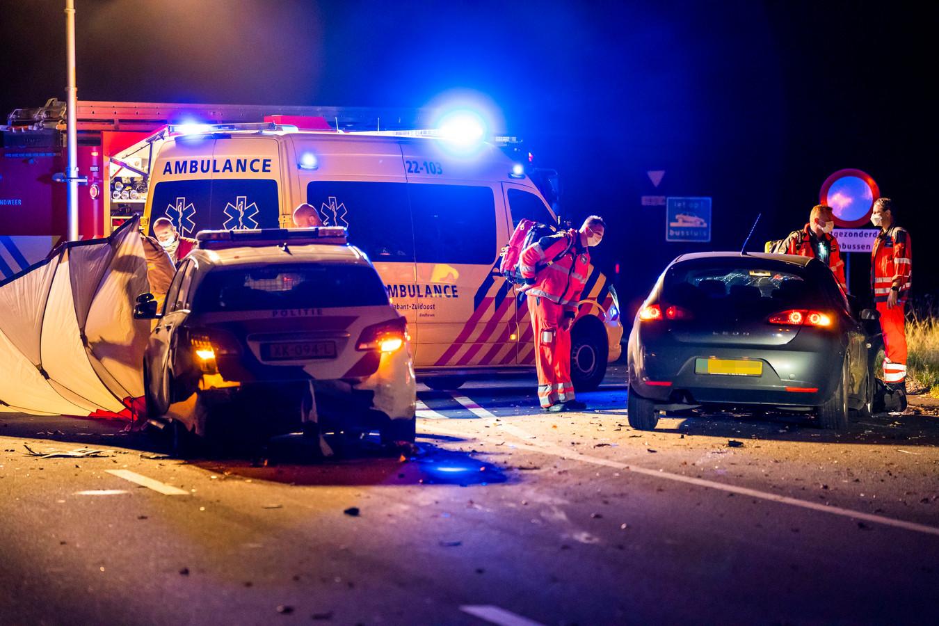 Politieagent overleden bij ernstige aanrijding op de A270 bij Nuenen.