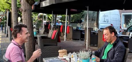 Compromis terrassen Willemstad in zicht