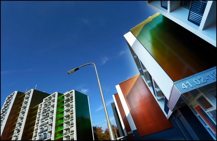 Flats in de Weezenhof, Nijmegen-Dukenburg.
