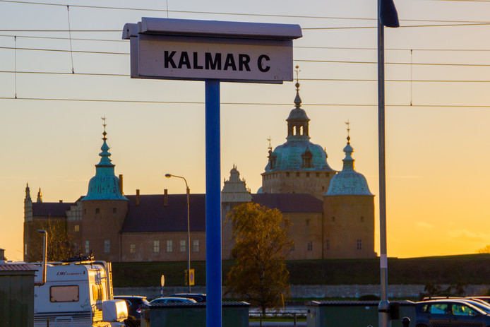 La station de Kalmar en Suède.