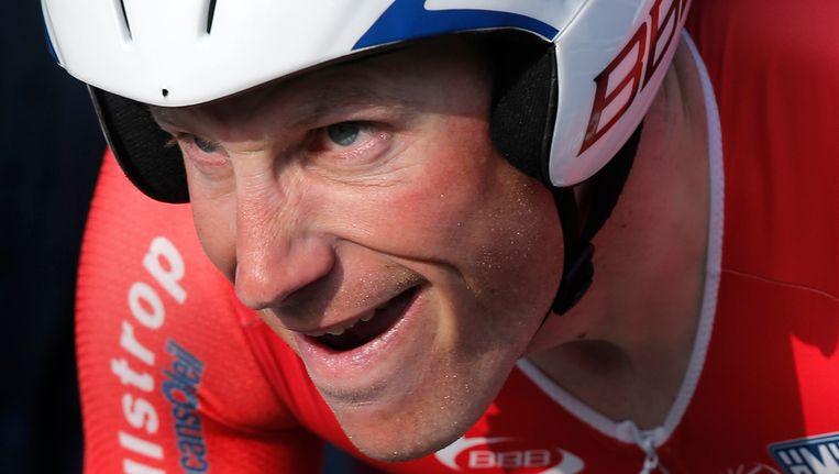 Lieuwe Westra is Nederlands kampioen tijdrijden. Beeld ap