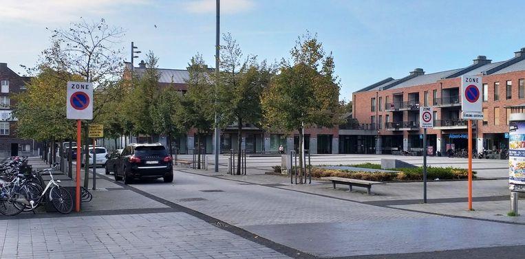 De laad- en loszone ligt dicht bij de winkels. Voor veel bezoekers de ideale plaats om even te parkeren.