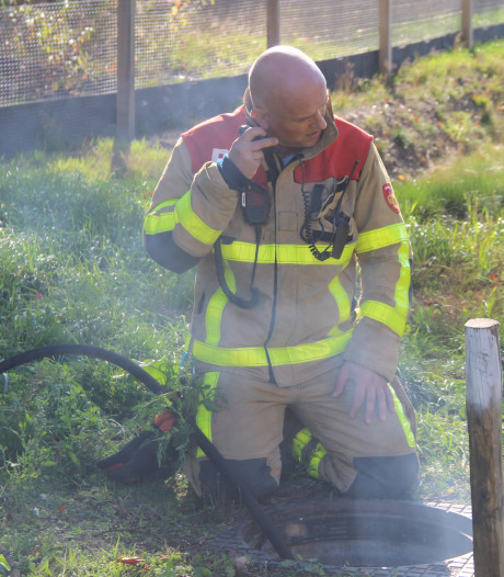 Brand in wildtunnel bij N18 bij Eibergen