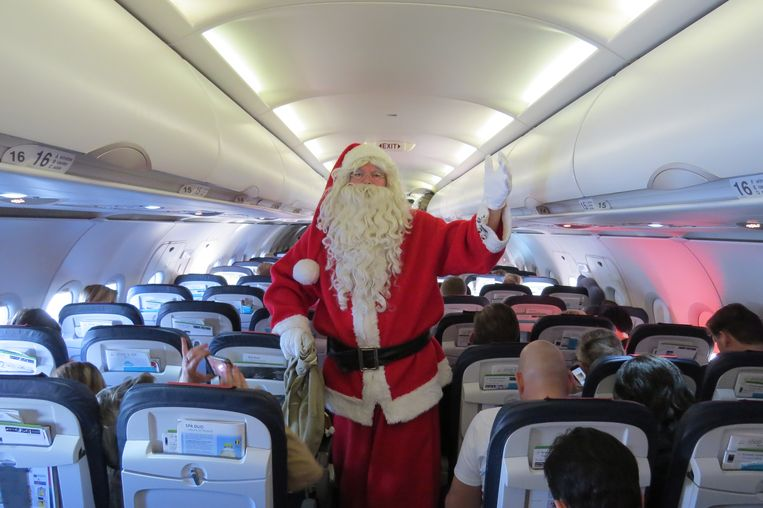 Koen Hallaert als kerstman