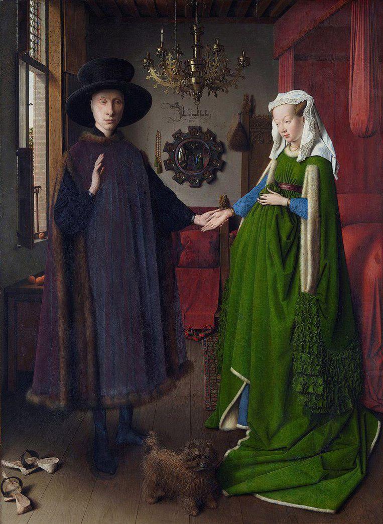 Jan van Eyck, Het Arnolfiniportret, 1434 Beeld