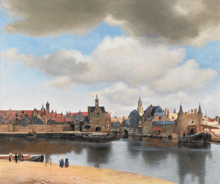 Gezicht op Delft, Johannes Vermeer ca. 1660-1661 Beeld Collectie Mauritshuis