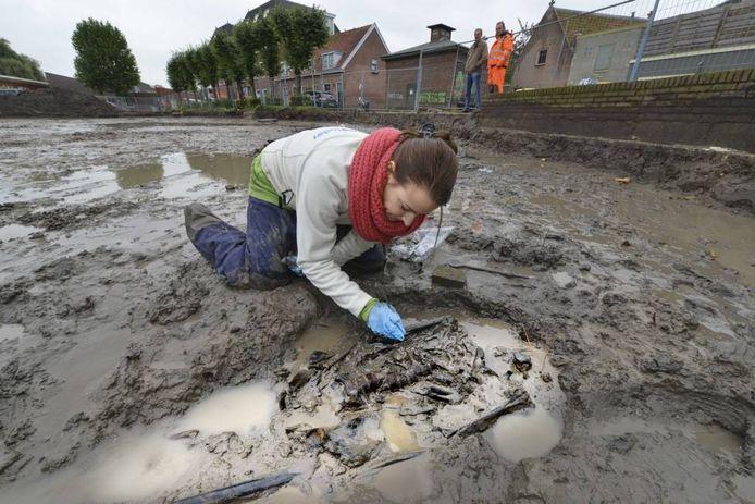In oktober 2013 werd het gevonden kerkhof in Culemborg onderzocht.