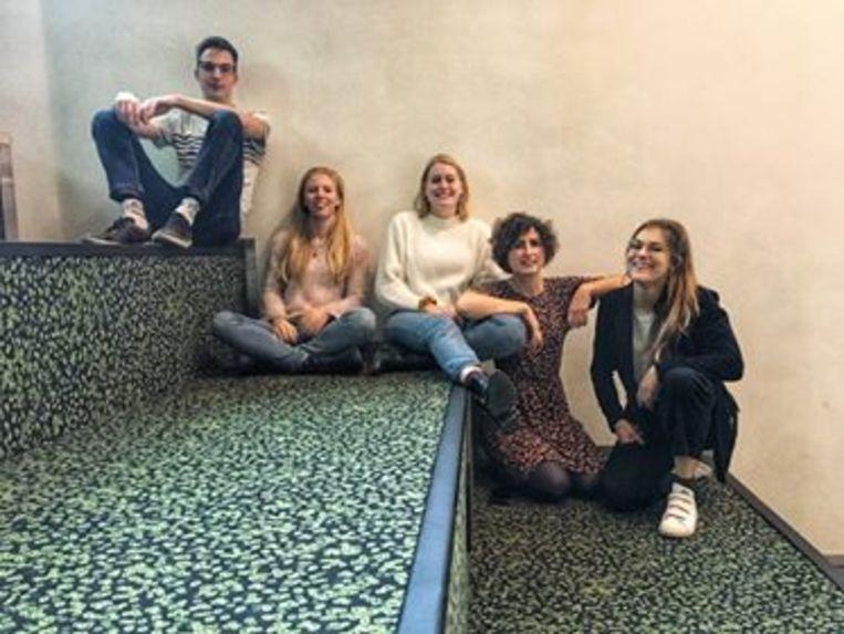 De organisatoren van 'The matching experience': vlnr Wouter Oyen, Louise De Wever, Dominique Van Laethem, Laurika Nelissen en Soraya Verhue