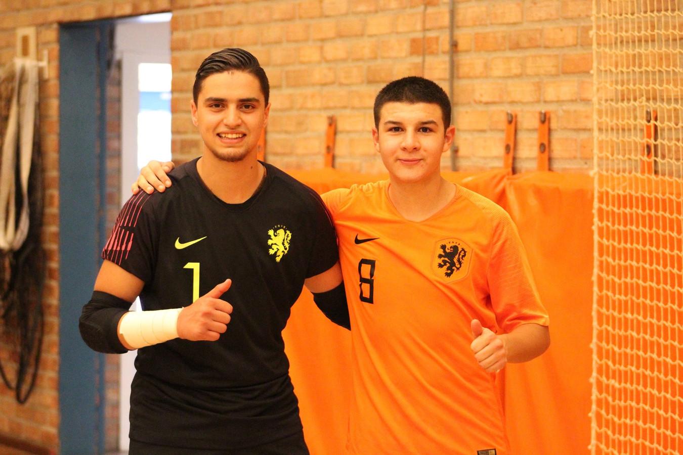 Youssef Ben Sellam (links) en Nabil Azzanagui.