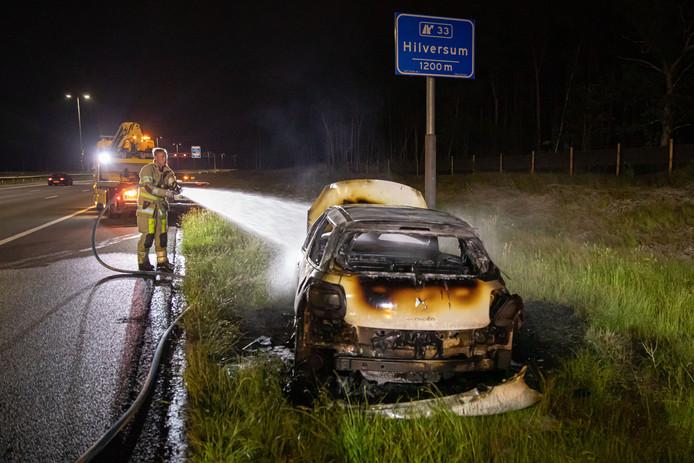 De auto raakte fors beschadigd.