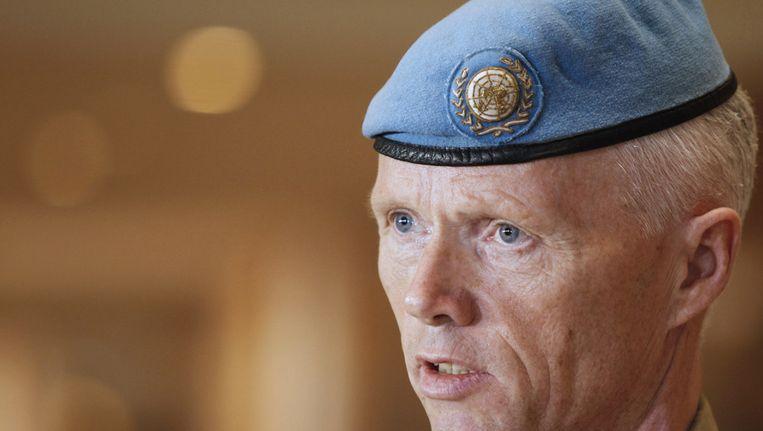 Hoofd van de VN-waarnemersmissie Robert Mood Beeld ANP