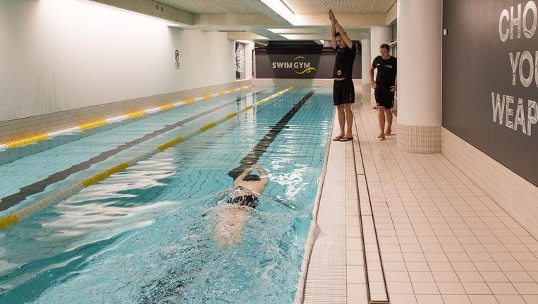 'Ik zag een leeg zwembad als een wit canvas waarop ik een nieuw concept kon uitrollen' Beeld Marijke Stroucken