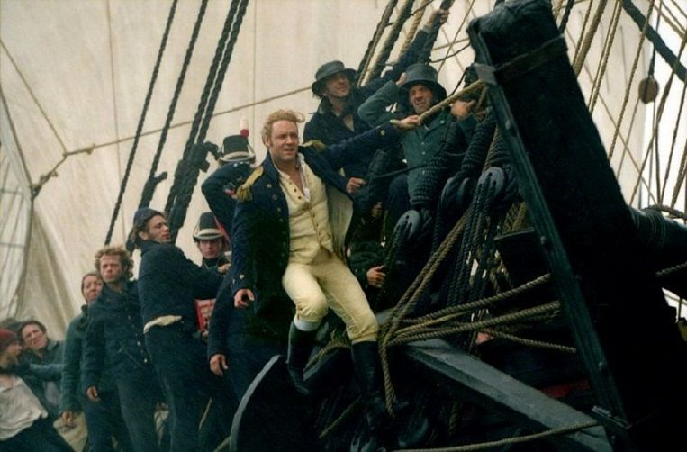 Russell Crowe in Master and Commander (2003) Beeld null