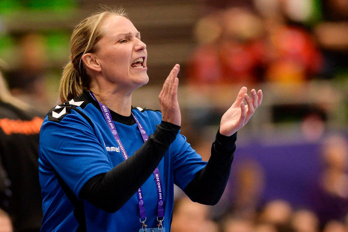 Bondscoach Helle Thomsen.